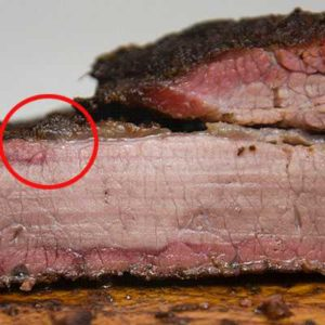 Brisket smoke rings fat