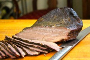 Sous vide and smoked bbq brisket